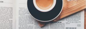 Kaffeezeit ist die Zeit für Lesen